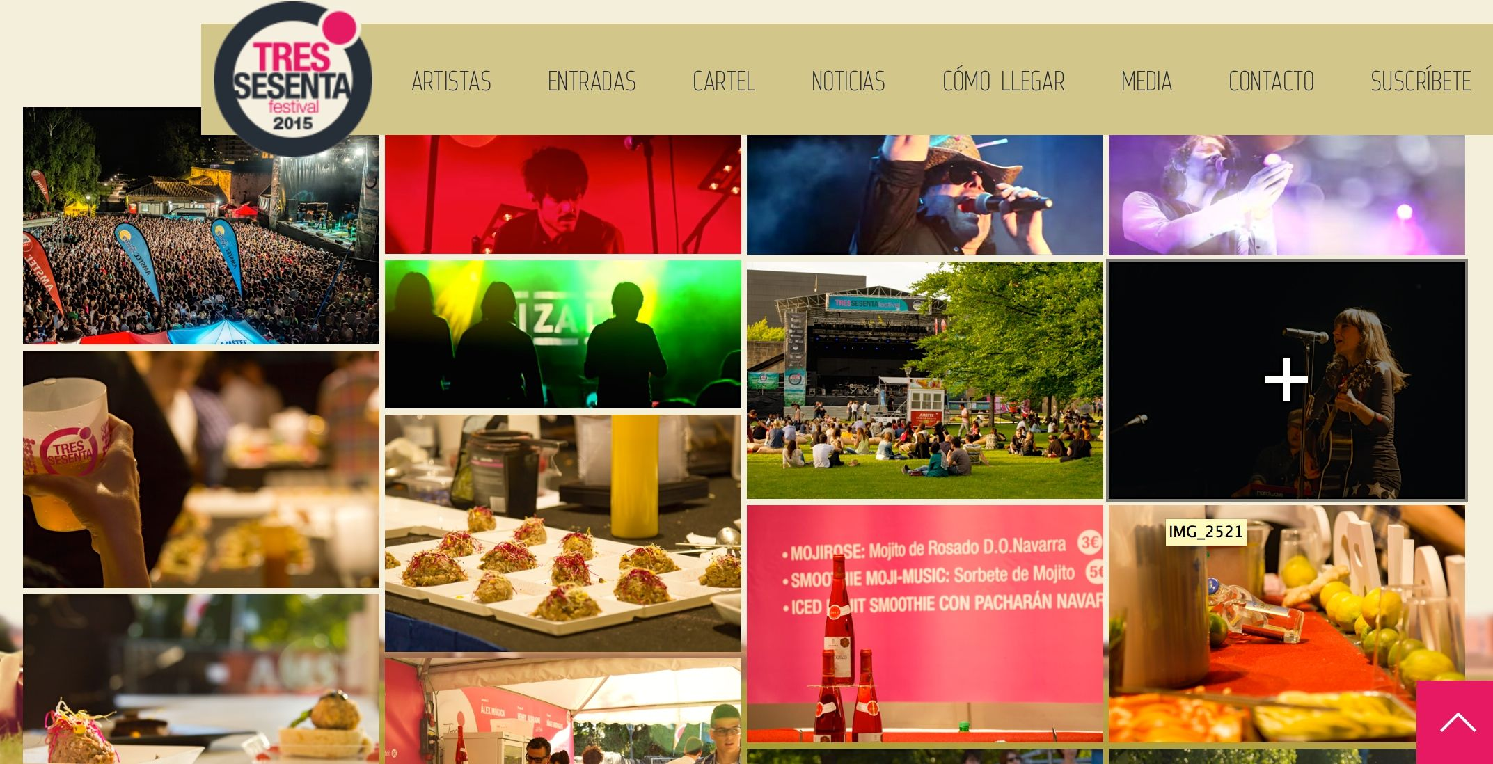 Página web oficial del Tres Sesenta Festival