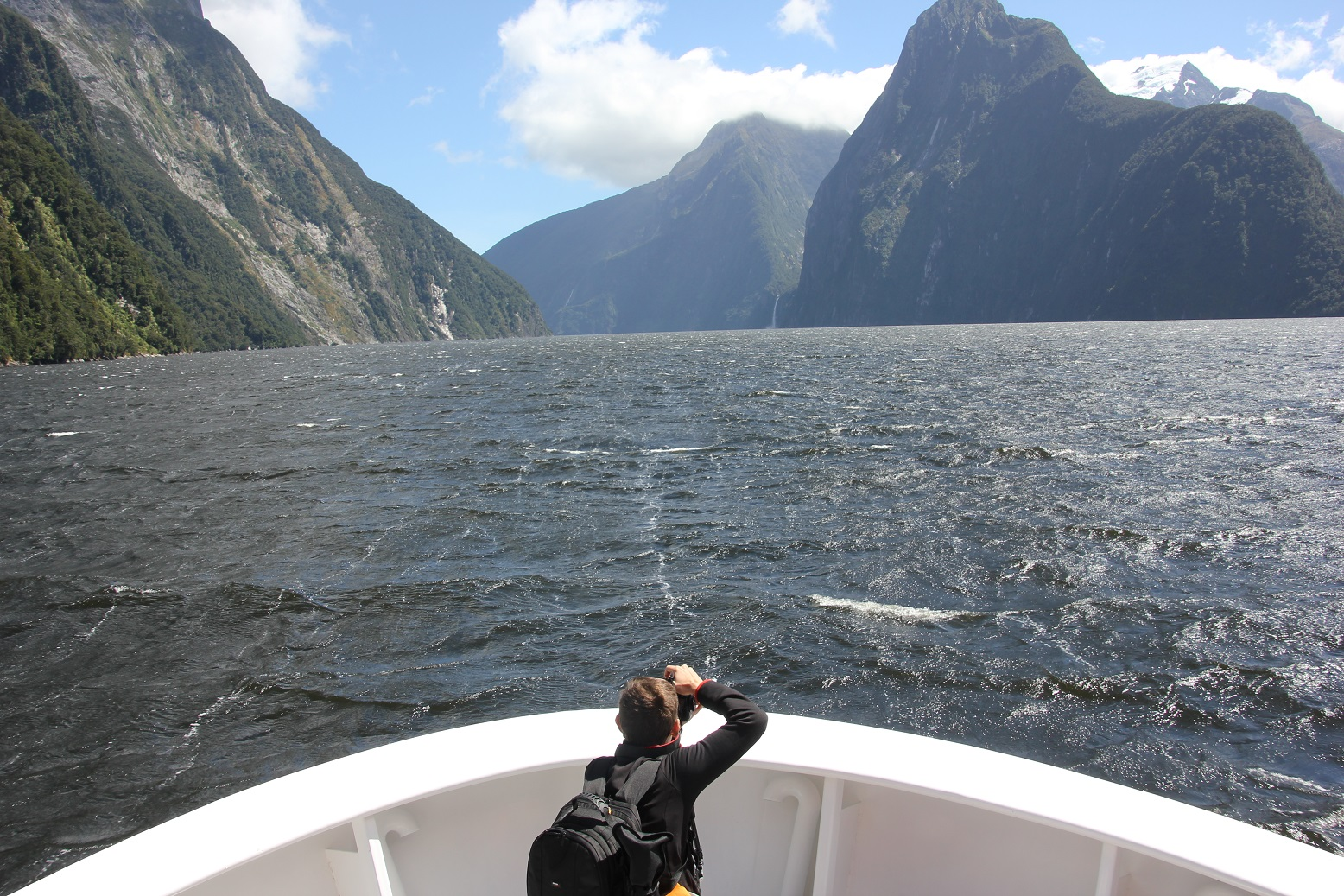 Jairo, blog Mochila Nómada en Milford Sound