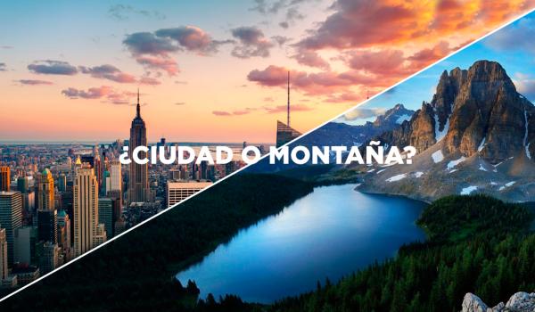 ciudad o montaña