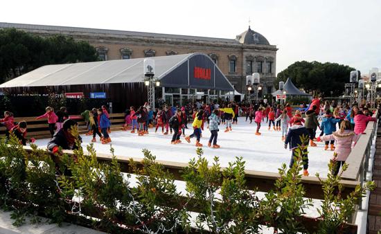 Pista patinaje sobre hielo Madrid