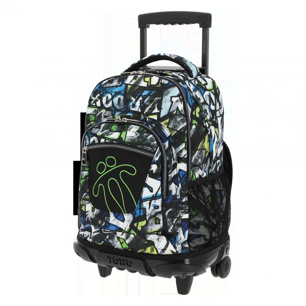 mochila escolar con ruedas renglones