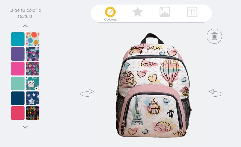 mochila personalizada totto lab san valentin